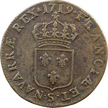 Louis XV, sol au buste enfantin, 1719 Reims