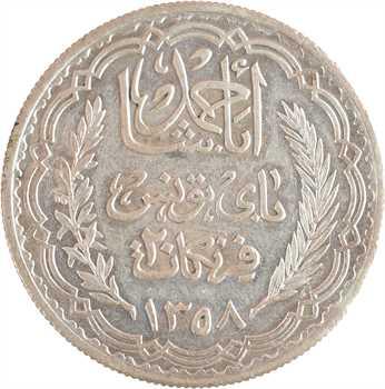 Tunisie (Protectorat français), Ahmed, 20 francs, AH 1358 (1939) Paris