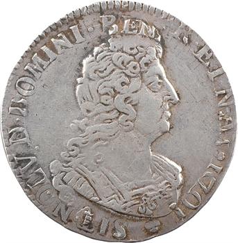 Louis XIV, demi-écu aux huit L, 2e type, 1704 Troyes