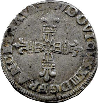 Louis XIII, quart d'écu de Béarn, 1643/2 Morlaàs