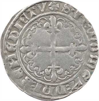 Charles VII, blanc dentillé 2e émission, Troyes