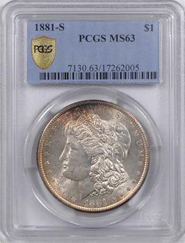 États-Unis, dollar type Morgan, 1881 San Francisco, PCGS MS63