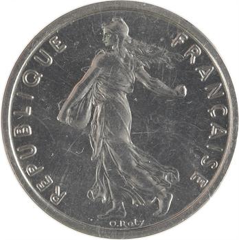 Ve République, piéfort de 1/2 franc Semeuse, 1965 Paris