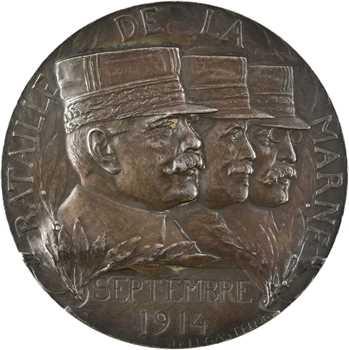 Legastelois (J. P.) : la Bataille de la Marne, par Legastelois, en argent, 1916 Paris