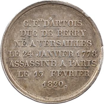 Assassinat du duc de Berry, par Caqué, 1820 Paris