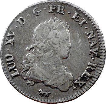 Louis XV, tiers d'écu de France, 1720 Paris