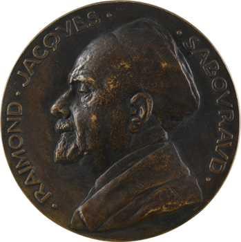 Pommier (A.) : Raymond Sabouraud (hôpital Saint Louis), fonte, 1889-1929