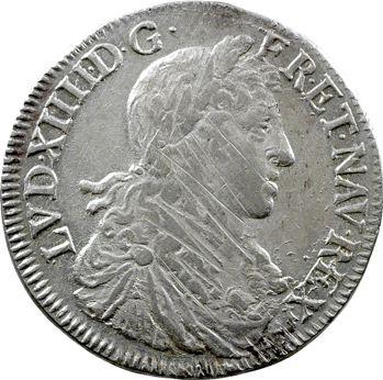 Louis XIV, demi-écu au buste juvénile, 1re effigie, 1659 Rennes