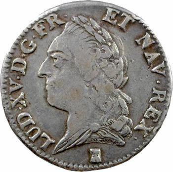 Louis XV, demi-écu à la vieille tête, 1772 Nantes