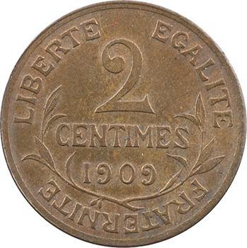IIIe République, 2 centimes Daniel-Dupuis, 1909 Paris