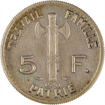 État français, présérie de 5 francs Pétain légère, 1941 Paris