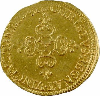 Louis XIII, écu d'or au soleil, 1641 Bourges