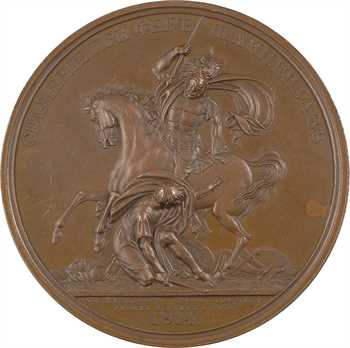 Russie, Alexandre Ier, la bataille de Fère-Champenoise, par Klepikov, 1814 (1836) Saint-Pétersbourg