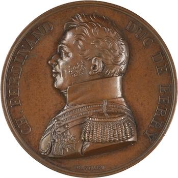 Duc de Berry, hommage du département du Nord, suite à son assassinat et sa visite de 1815, 1829 Paris