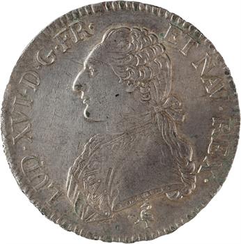 Louis XVI, écu aux rameaux d'olivier, 1790, 2d semestre, Paris