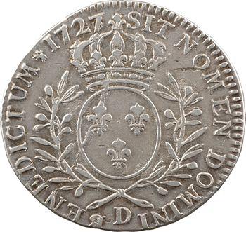Louis XV, demi-écu aux rameaux d'olivier, 1727/6 Lyon