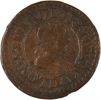 Louis XIII, double tournois 4e type, 1618 Lyon