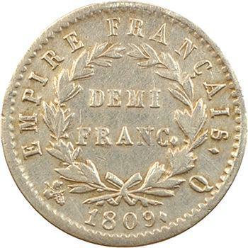 Premier Empire, demi-franc Empire, 1809 Perpignan
