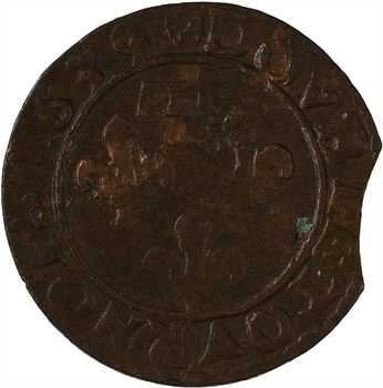 Dombes (principauté des), Gaston d'Orléans, double tournois 12e type, 1639 Trévoux