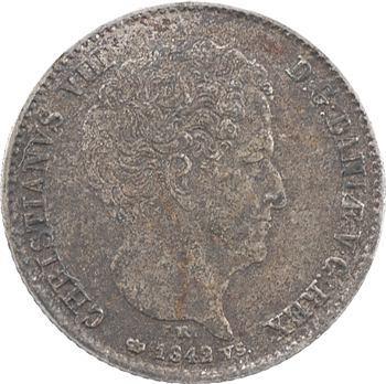 Danemark, Christian VIII, 16 rigsbank skilling (5 schilling), 1842 Copenhague
