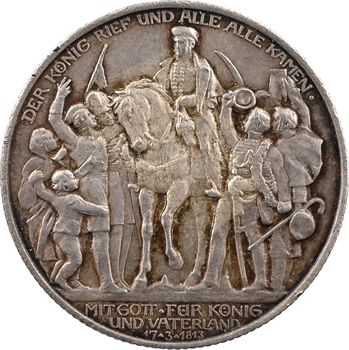 Allemagne, Prusse (royaume de), Guillaume II, 2 mark d'hommage, 1913 Berlin