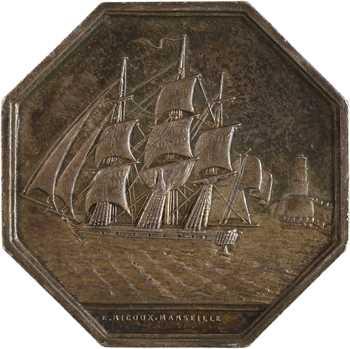 Louis-Philippe Ier, Compagnie d'assurances maritimes de Marseille, par Ricoux, s.d