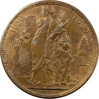 Belgique (royaume de), Léopold II, médaille au module de 5 francs, 1880