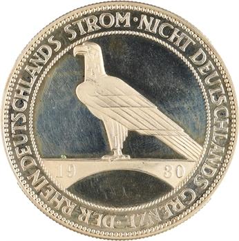 Allemagne (Empire d'), 5 reichsmark, Flan Bruni, 1930 Stuttgart