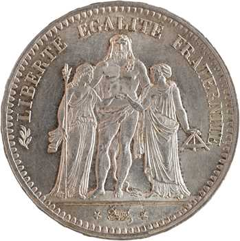 IIe République, 5 Francs Hercule, 1849 Paris