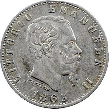 Italie (royaume d'), Victor-Emmanuel II, 20 centesimi, 1863 Milan