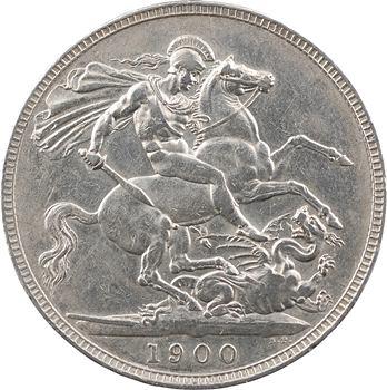 Royaume-Uni, Victoria, écu ou crown, 1900 (LXIII) Londres