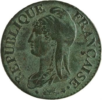 Directoire, cinq centimes Dupré, An 8 Paris
