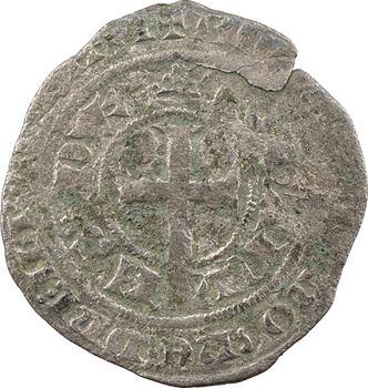 RETIRÉ – Bretagne (duché de), Jean IV, gros à la queue, imitation de Jean le Bon, s.d. (c.1355) atelier indéterminé