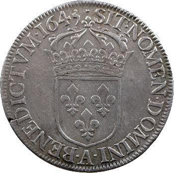 Louis XIV, écu à la mèche courte, 1645 Paris