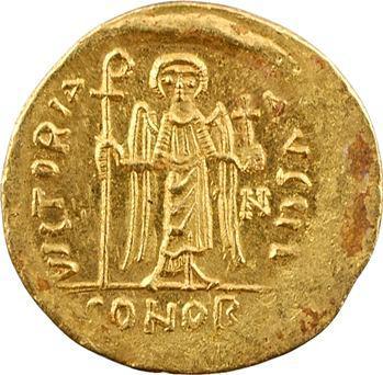 Phocas, solidus, Constantinople, 10e officine, 607-610