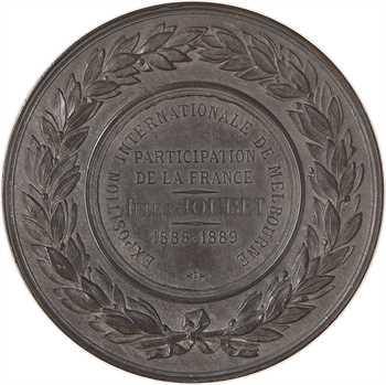 Australie, participation de la France à l'exposition de Melbourne, par A. Dubois, en argent, 1889 Paris