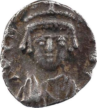 Héraclius, Héraclius Constantin et Martine, demi-silique, Carthage, 610-641
