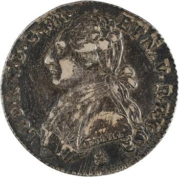 Louis XVI, cinquième d'écu aux rameaux d'olivier, 1788 La Rochelle
