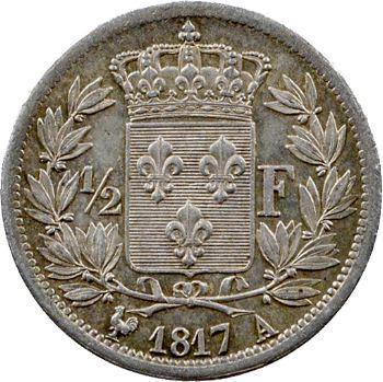 Louis XVIII, 1/2 franc, 1817 Paris