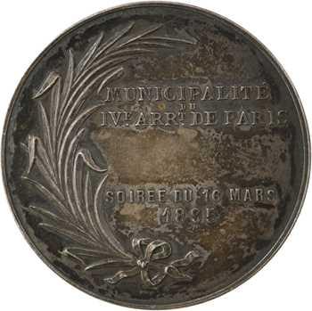 Roty (L. O.) : Soirée du 16 mars du IVe arrondissement, 1895 Paris