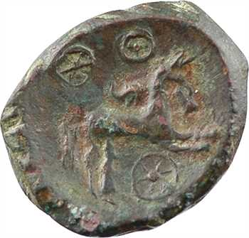 Éduens, statère de bronze, type de Siauges-Saint-Romain, c.50 av. J.-C