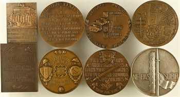 IIe Guerre Mondiale, Résistance, débarquement, etc., lot de 8 médailles