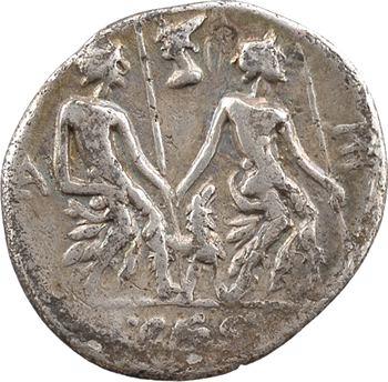 Caesia, denier, Rome, 112-111 av. J.-C.