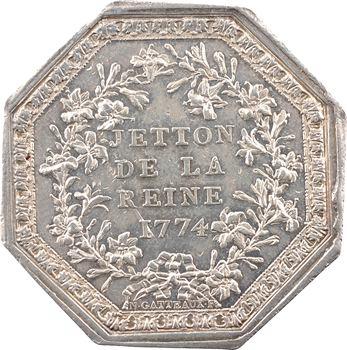 Marie-Antoinette, jeton de la Reine, par Gatteaux, 1774 (postérieur) Paris