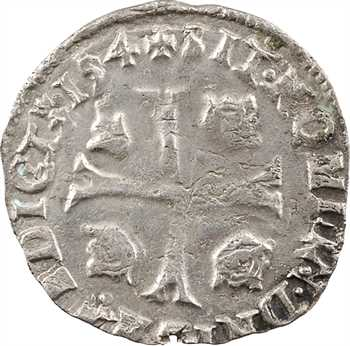Charles X, douzain aux 2 C, 1er type, 1594 Troyes