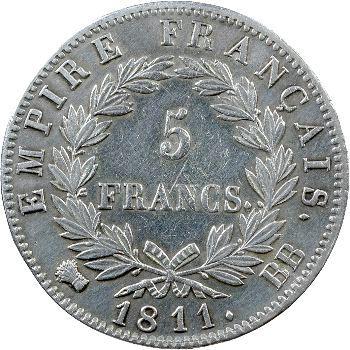 Premier Empire, 5 francs Empire, 1811 Strasbourg