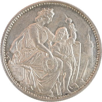 Suisse, Schaffhouse, 5 francs ou thaler de tir, 1865