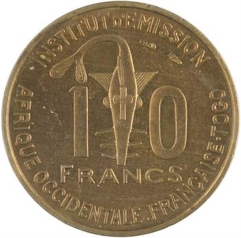 Togo, Afrique Occidentale Française AOF, 10 francs, 1957 Paris