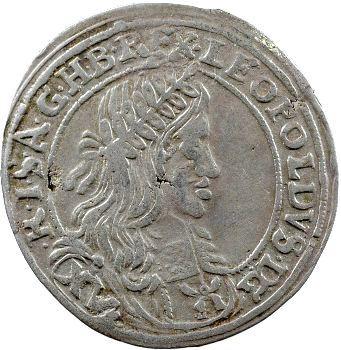 Autriche, Léopold I, 15 kreuzer, 1661