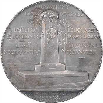 Chaplain (J.-C.) : Le siège de Paris, en argent, 1870-1871 Paris